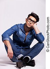 attractive young fashion man