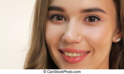 Attractive young girl close up portrait