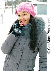 girl in wintertime