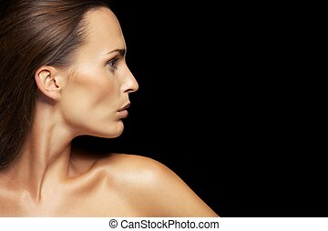 Attractive young lady with healthy skin