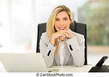 young office worker sitting in office