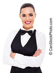 attractive young waitress