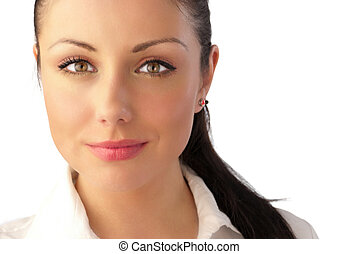 Attractive young woman celebrity-like portrait