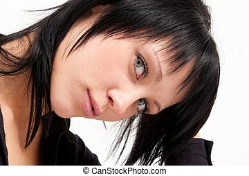 Attractive young woman close up