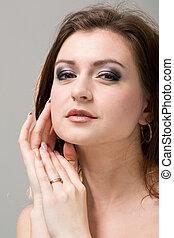 attractive young woman portrait closeup