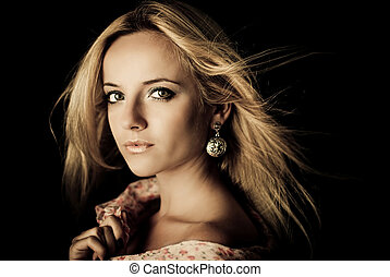 Attractive young woman portrait