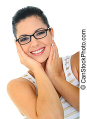 Attractive Young Woman With Glasses