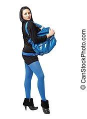 Attractive young woman with handbag