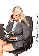 attraktiv, affärsverksamhet kvinna