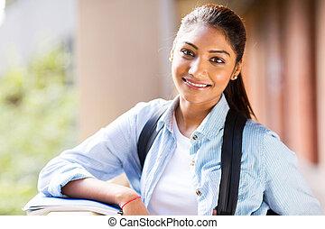 attraktiv, kvinnlig, universitet studerande