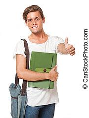 attraktiv, ung, student.