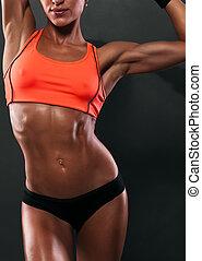 attraktive, fitness, frau