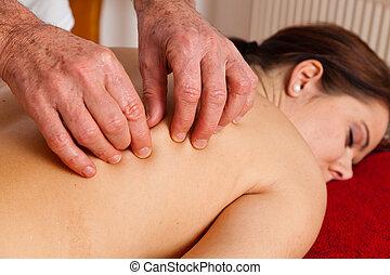 attraverso, resto, massaggio, rilassamento