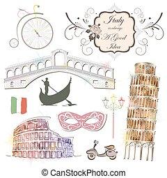 attrazioni, di, italia