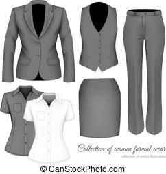 attrezzature, women., professionale, affari