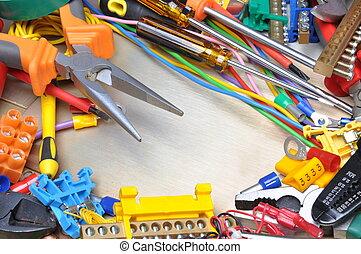 attrezzi, kit, componente