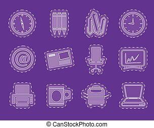 attrezzi, ufficio affari, icone