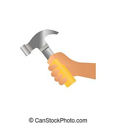 attrezzo, costruzione, martello