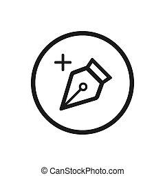 attrezzo, disegno, fondo, linea bianca, icona