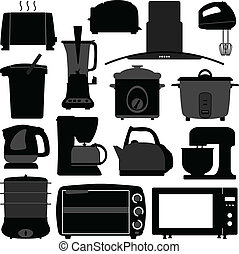 attrezzo, elettronico, apparecchi, cucina