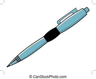 attrezzo, penna, scrittura