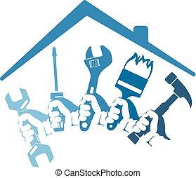 attrezzo, riparazioni, casa