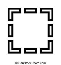 attrezzo, selezione, rettangolare, icona