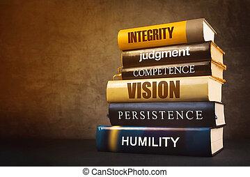 attributes, αρχηγία , λογοτεχνία , αναπαριστώ , επιχείρηση