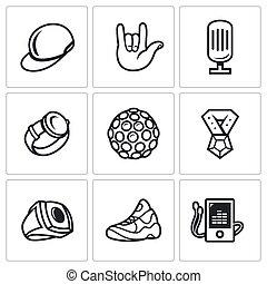 attributes, Conjunto, Rapero, iconos