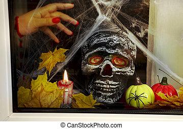 attributes, halloween, cráneo
