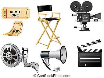 attributes, industrie, film
