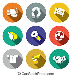 Attributes Soccer fan icon collection - Attributes Soccer...