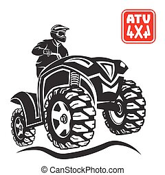 ATV All-terrain vehicle off-road design elements. - ATV...