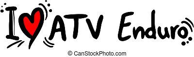 ATV enduro love