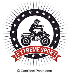 atv extreme sport label design