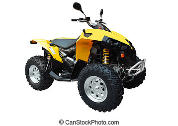 atv isolated - atv quadbike isolated