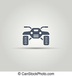 ATV isolated vector icon, off-road motorcycles