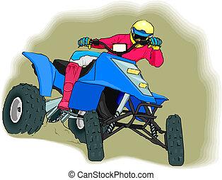 ATV off-road rider