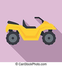 Atv quad bike icon, flat style