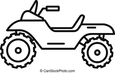 Atv quad bike icon, outline style