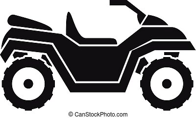 Atv quad bike icon, simple style