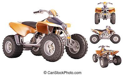 ATV Quad Bike - Set of ATV quad bike isolated on white...