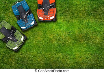 ATV Quad Bikes on Grass