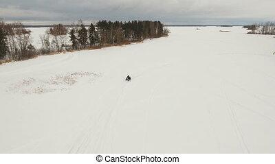 ATV race in the winter season.
