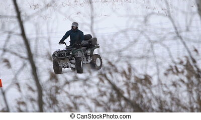 ATV race in the winter season.