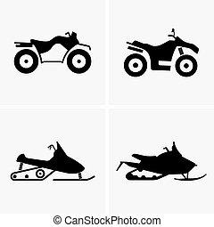 atv, snowmobile