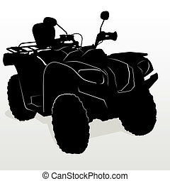 ATV - The contour of modern motorcycles. The illustration on...