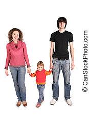 atya, és, anya, befolyás, lány, helyett, a, kezezés on, a, a, fehér