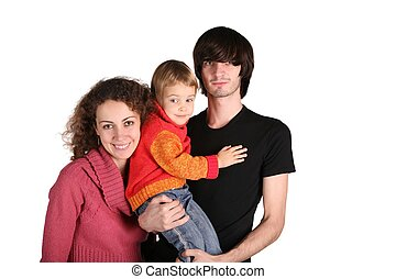atya, és, anya, noha, a, lány, képben látható, a, kezezés on, a, a, fehér