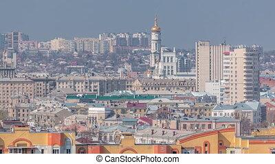 au-dessus, districts., résidentiel, ukraine., vue aérienne, ...